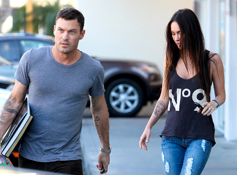 Megan Fox & Brian Austin Green Removing Tattoos Together