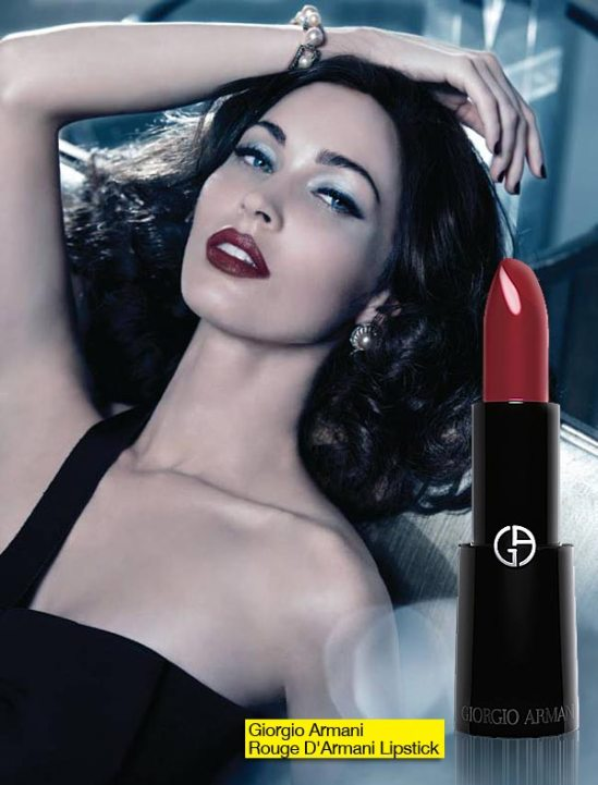 Check Out Megan Fox In The Ad For The Giorgio Armani Beauty 2011 Christmas Collection!
